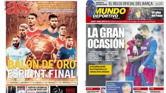 As capas da imprensa de 23 de outubro de 2021. AS/MD