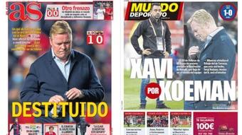 As capas da imprensa de 28 de outubro de 2021. AS/MD