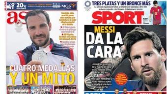As capas da imprensa esportiva de 8 de agosto de 2021. AS/Sport