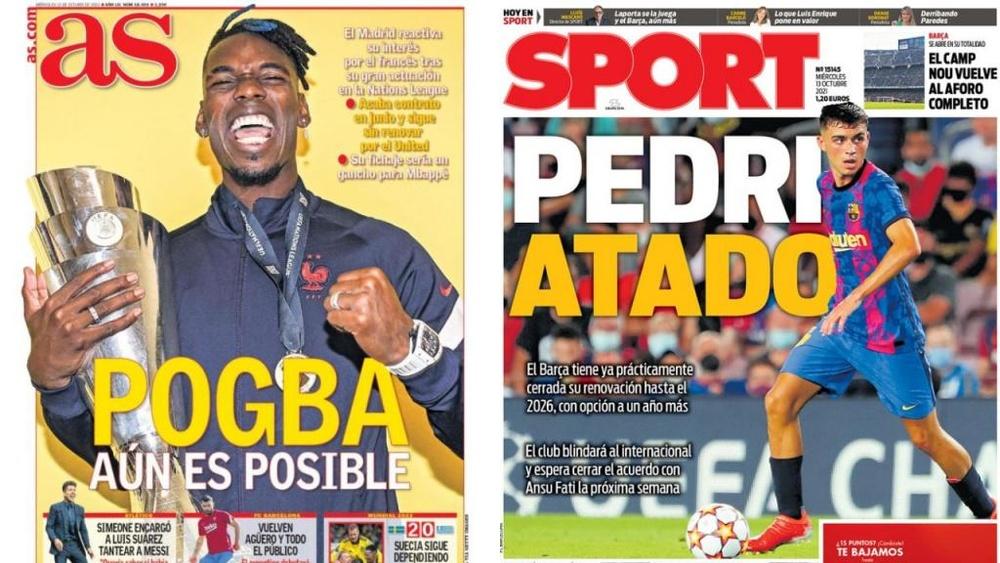 Portadas de la prensa deportiva del 13-10-21. AS/Sport