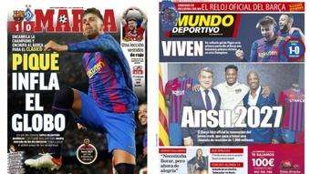 As capas da imprensa de 21 de outubro de 2021. Marca/MD