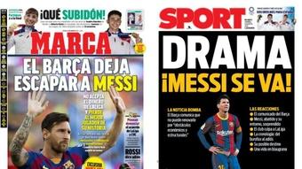 As capas da imprensa esportiva de 6 de agosto de 2021. Marca/Sport
