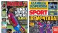 Portadas de la prensa deportiva del 18-10-21. Marca/Sport