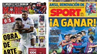 Capas da imprensa desportiva 20 de outubro de 2021.Marca/Sport