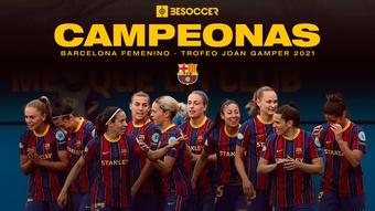 El Barça Femenino se llevó el Gamper tras golear a la Juve. BeSoccer