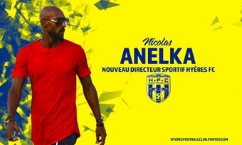 Anelka dura solo tres meses como director deportivo. Twitter/hyeresfc