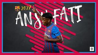 Ansu Fati renova com o Barça até 2027. BeSoccer