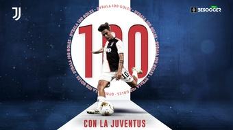 El delantero de la Juventus alcanzó el centenar de goles ante el Udinese. BeSoccer Pro