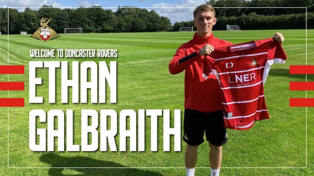 Creatividad de Galbraith como nuevo jugador del Doncaster Rovers. Twitter/drfc_official