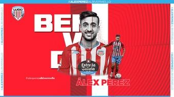 El Lugo anunció a Álex Pérez, que llega como agente libre. ClubDeportivoLugo