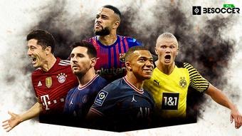La tabla de máximos goleadores del 2021 en cinco grandes ligas. BeSoccer Pro