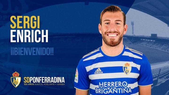 La Ponferradina anunció la llegada de Sergi Enrich. Twitter/SDP_1922