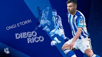 Diego Rico, novo jogador da Real Sociedad. Twitter/RealSociedad