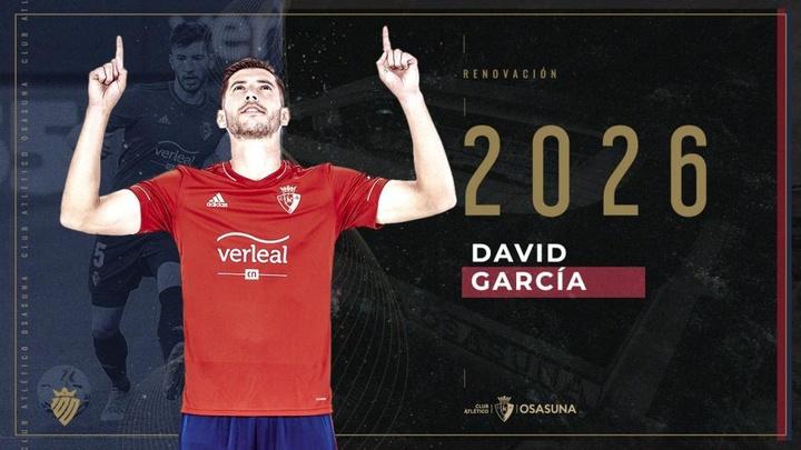 Osasuna renueva a David García hasta 2026. EFE