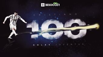 Cristiano Ronaldo clava la bandera de los 100 goles con la Juve. BeSoccer Pro