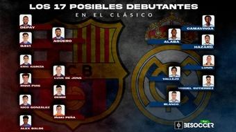 Los 17 posibles debutantes del 'Clásico'. BeSoccer Pro