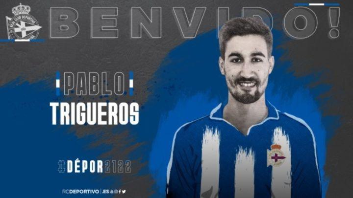 Trigueros, nuevo jugador del Deportivo. Twitter/RCDeportivo