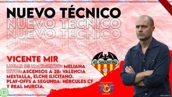 Vicente Mir toma las riendas del Atlético Saguntino. AtléticoSaguntino