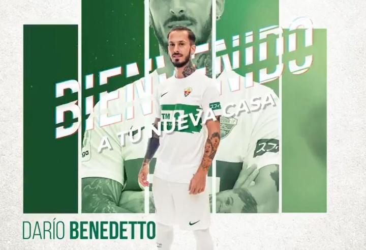 Darío Benedetto ya es jugador del Elche. ElcheCF