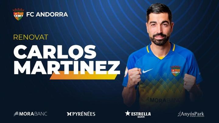 Carlos Martínez seguirá en el Andorra. FCAndorra