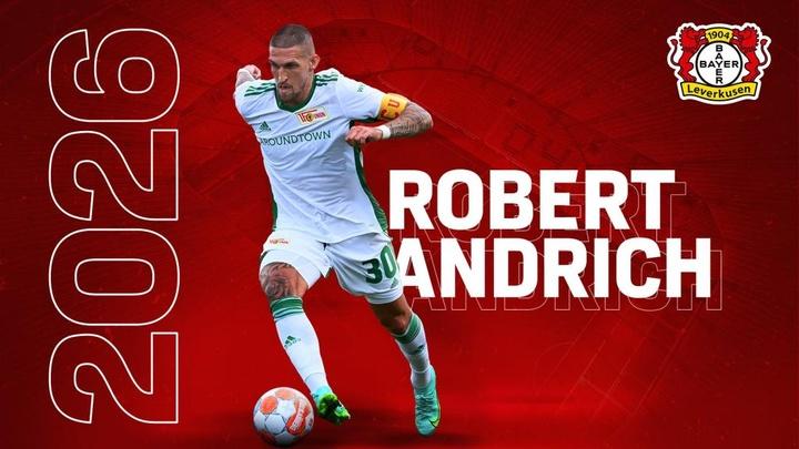 Robert Andrich, otro refuerzo más para el Bayer Leverkusen. Twitter/Bayer04fussball