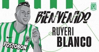 Ruyeri Blanco llega a Atlético Nacional. NacionalOficial