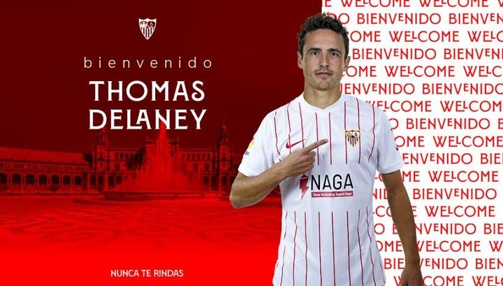 OFICIAL: Delaney, nuevo jugador del Sevilla. SevillaFC