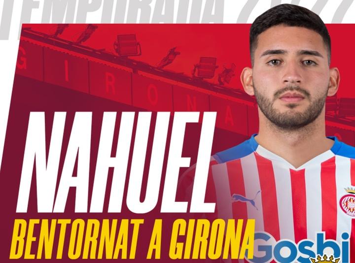 Nahuel Bustos regresa al Girona. Twitter/GironaFC