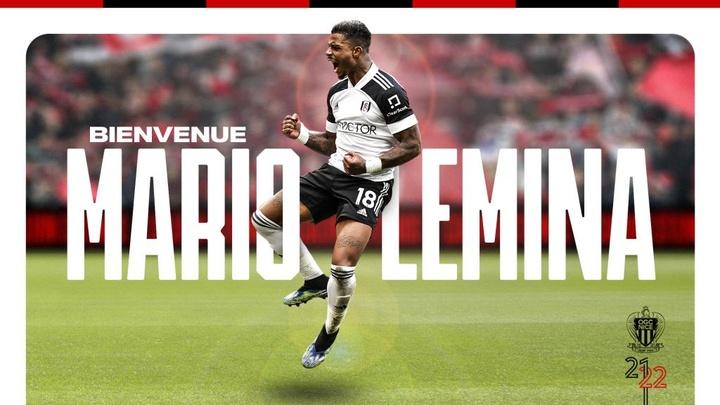 Lemina, nuevo jugador del Niza. Twitter/ognice