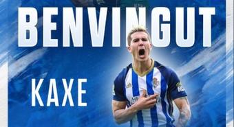 Kaxe ya es nuevo futbolista del Sabadell. Twitter/CESabadell