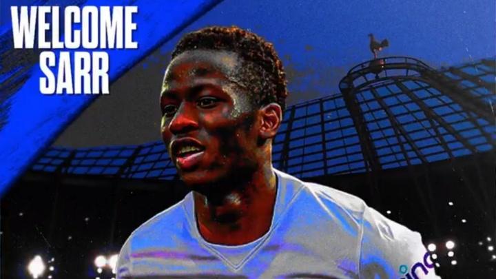 OFICIAL: Sarr, nuevo jugador del Tottenham. Twitter/SpursOfficial