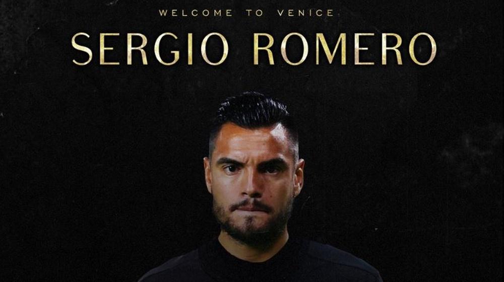 Sergio Romero firmó con el Venezia. VeneziaFC