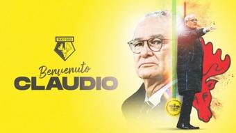 Ranieri, nuevo técnico del Watford. WatfordFC