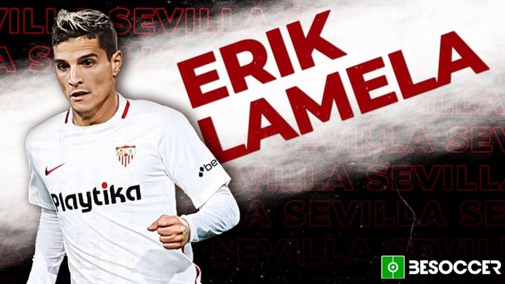 Erik Lamela signe au FC Séville. BeSoccer
