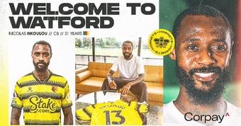 Nkoulou, primer fichaje del Watford de Ranieri. WatfordFC