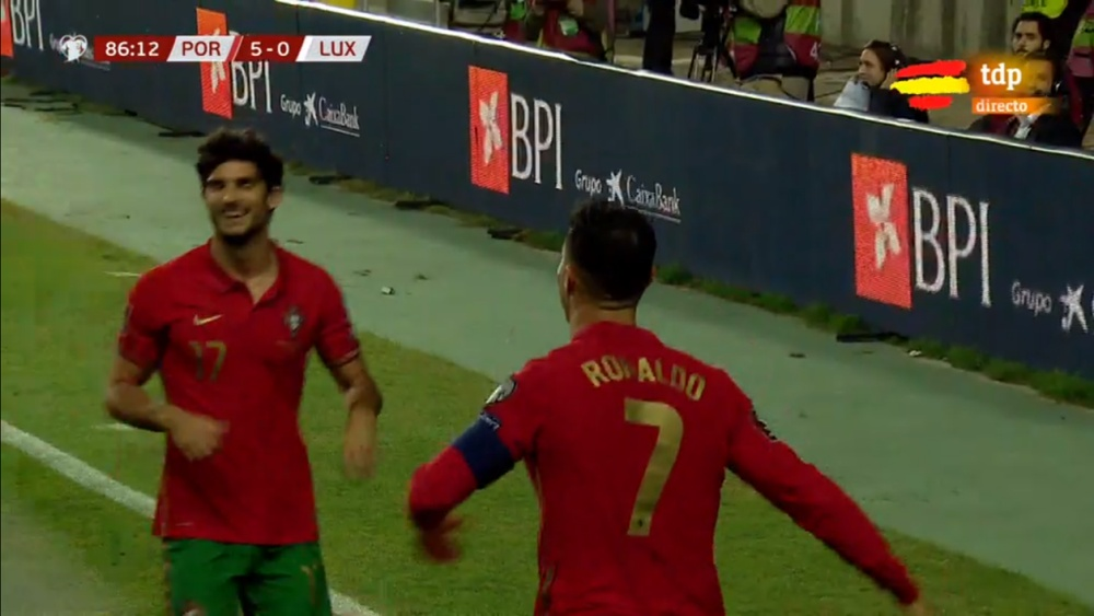 Cristiano anotó un 'hat trick' ante Portugal. Captura/tdp