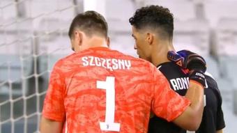 Cristiano habló con Szcany para motivarle. Captura/SkySports
