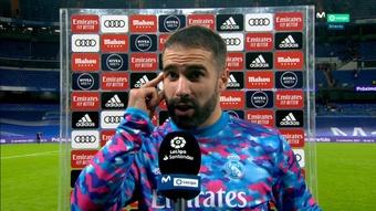 Carvajal habló tras el empate del Madrid. Captura/MovistarLaLiga