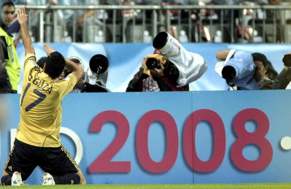 Güiza es uno de los pocos supervivientes de la Eurocopa 2008. EFE/Juanjo Martín