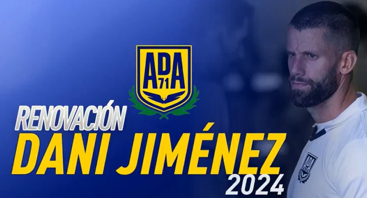 Dani Jiménez jugará con el Alcorcón hasta 2024. Twitter/AD_Alcorcón