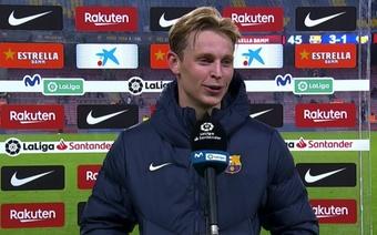 De Jong valoró la victoria de su equipo. Captura/MovistarLaLiga