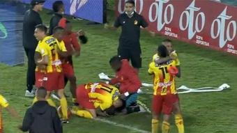 Deportivo Pereira venció en la tanda de penaltis. Captura/WinSportsTV