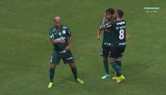 Palmeiras venció 1-2 ante Ceará. Captura/Premiere