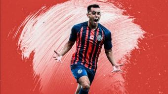 Diego Rodríguez rescindió de su contrato como jugador de San Lorenzo. Twitter/Nacional