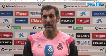 Diego López habló tras derrotar al Madrid. Captura/RCDEspanyol