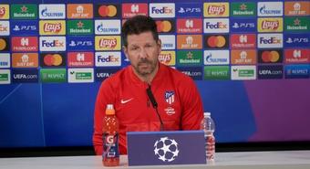 Simeone analizó el partido ante el Liverpool. Captura/Atlético