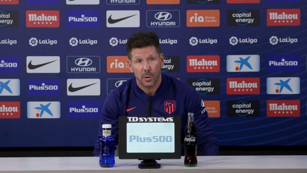 Simeone analizó lo que le espera al Atleti ante el Getafe. Twitter/Atleti