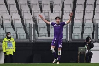 Bataille entre la Juve et l'Inter pour Vlahovic. AFP