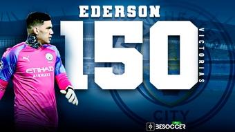 Ederson, a un paso de las 150 victorias. BeSoccer Pro