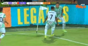 El 'Loco' Alvez marcó el primer gol de Atlético Nacional. Captura/WinSportsTV